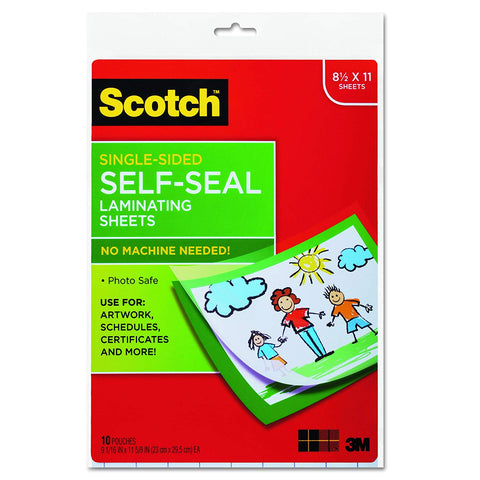 Scotch LS854 Self-Sealing Laminating Sheets, 6.0 mil, 8 1/2 x 11 (Pack of 10)