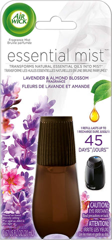 Air Wick Essential Oils Diffuser Mist Refill, Lavender and Almond Blossom, 1ct, Air Freshener