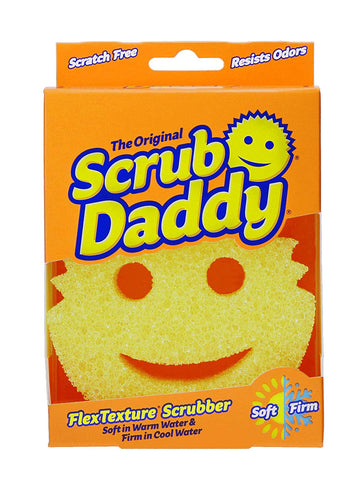 Scrub Daddy Smiley Face Scratch Free Scrubber As Seen On Shark Tank-1 Pack, Yellow