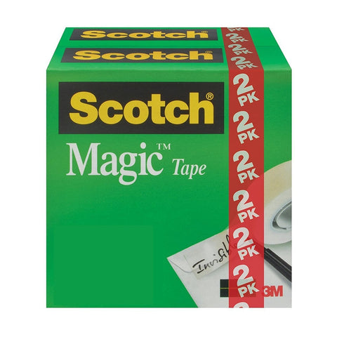 Scotch Brand Magic Tape, 3/4 x 1000 Inches, 2 Boxes (You Donate: $.75)