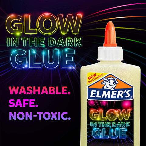 Elmer's Glow-in-the-Dark Liquid Glue, Washable, Natural, 5 Ounces, Great for Making Slime