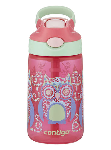 Contigo AUTOSPOUT Straw Gizmo Flip Kids Water Bottle, 14 oz, Sprinkles with Owl Parliament (2004943)