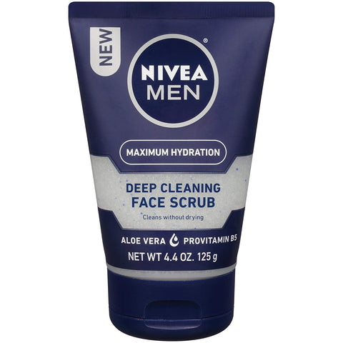NIVEA Men Maximum Hydration Deep Cleaning Face Scrub - Cleans without drying, contains Pro-vitamins - 4.4 oz.