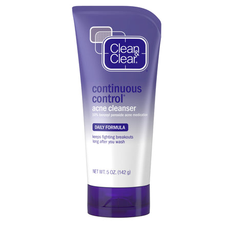 Clean & Clear Continuous Control Daily Acne Face Wash, 5 oz