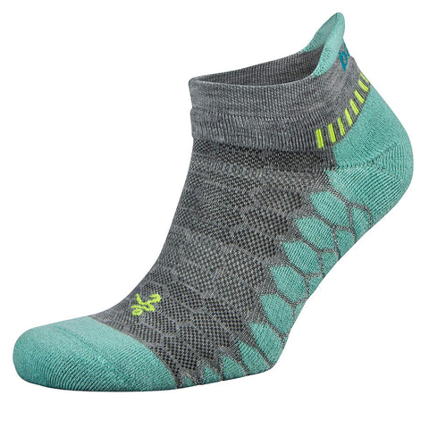 Balega Silver/Aqua Antimicrobial No-Show Compression-Fit Running Socks for Men and Women (1-Pair) SIZE SMALL