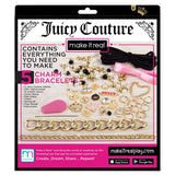 Make It Real - Juicy Couture Chains and Charms. DIY Charm Bracelet Making Kit for Girls. Design and Create Girls Bracelets with Juicy Couture Charms, Beads, Velvet Ribbon, Gold Chains and More
