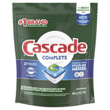 Cascade Complete ActionPacs Dishwasher Detergent Fresh Scent, 27 ct