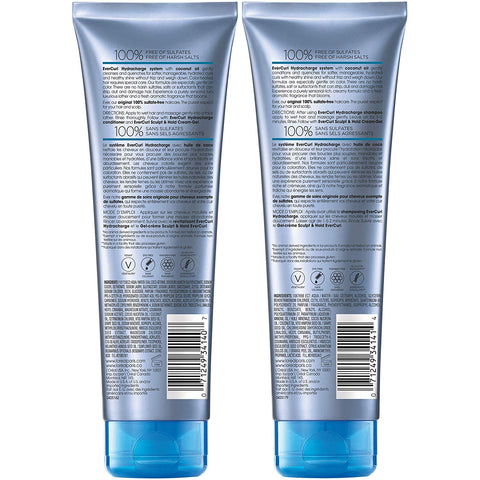 L'Oreal Paris Hair Care EverCurl Sulfate Free Shampoo & Conditioner Kit, Hydrates + Softens, With Coconut Oil, For Curly Hair, (8.5 fl. oz. each)