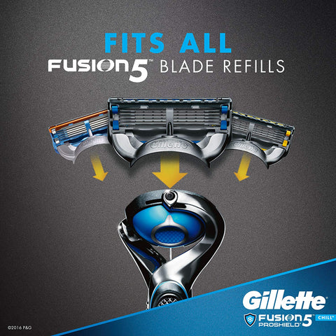 Gillette Fusion5 ProShield Chill Men's Razor Handle + 2 Refills