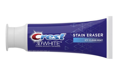 Crest 3D White Stain Eraser Whitening Toothpaste Icy Clean Mint - 3.5 oz Value 2 Pack
