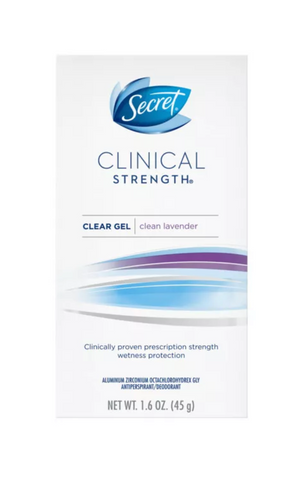 Secret Clinical Strength Antiperspirant and Deodorant for Women Clear Gel Completely Clean - 1.6oz
