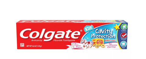 Colgate Kids Cavity Protection Toothpaste Bubble Fruit - 4.6oz Princess Carriage