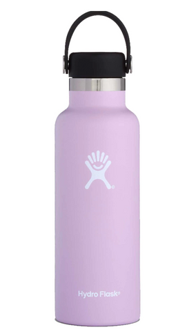 Hydro Flask Standard Mouth Water Bottle, Flex Cap - Lilac 18 oz