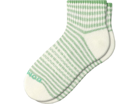 Bombas Women's Shadow Stripe Rib Quarter Socks - Size Medium Women's 8-10.5