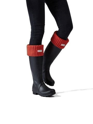 Hunter Half Cardigan Red Stitch Boot Socks (You Donate:  $4.50)