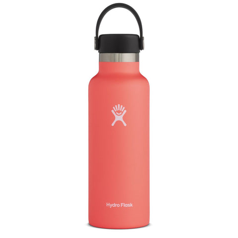 Hydro Flask Standard Mouth Water Bottle, Flex Cap - Hibiscus 18 oz