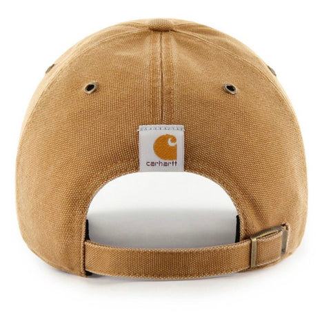 Men's Washington Nationals '47 Carhartt Clean Up Brown Adjustable Hat
