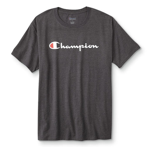 Champion Men's Graphic Short Sleeve Jersey Tee, Script Logo - Size SMALL
