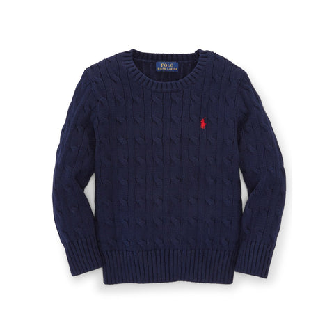 Polo Ralph Lauren Cable-Knit Cotton Sweater Boys' Size 5 (You Donate: $7.50)