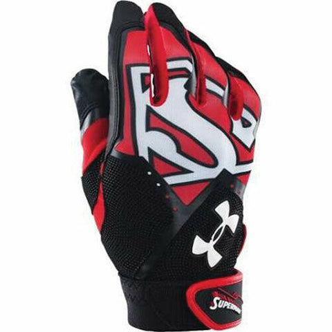 Under Armour Clean Up Alter Ego Superman Youth Batting Gloves - Youth Large