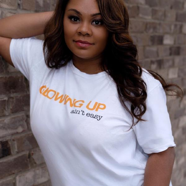 """Glowing up ain't easy"" Short-Sleeve Unisex T-Shirt"