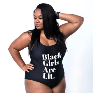 Black Girls Are Lit. One-Piece Swimsuit