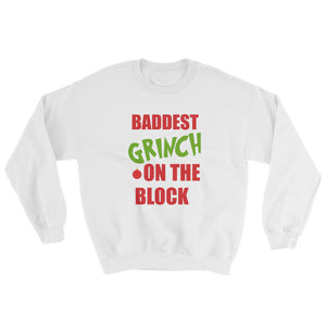 Baddest grinch on the block ugly sweater -  - KiKi Collection
