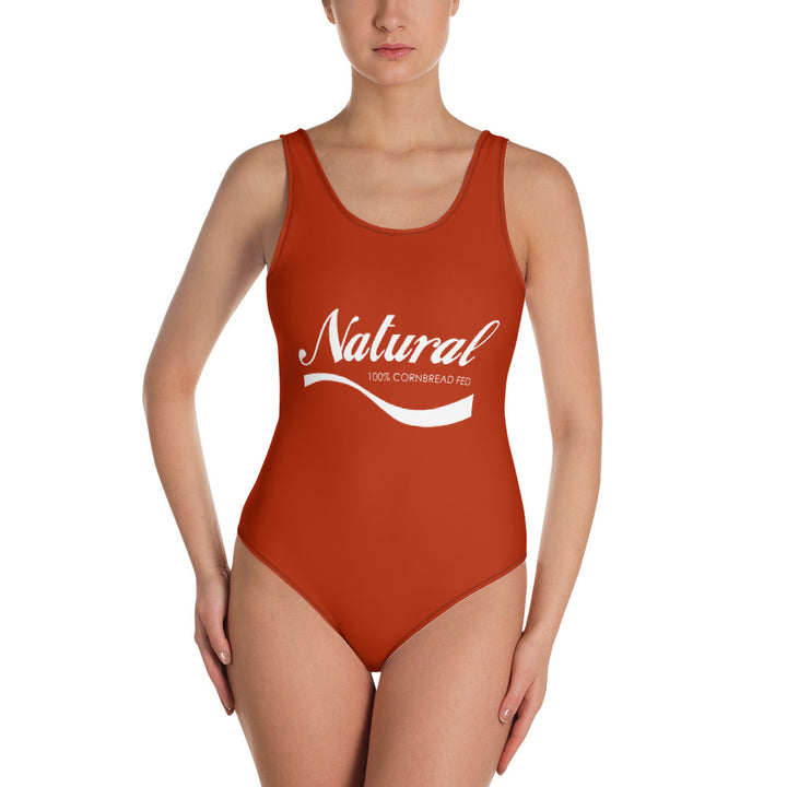 """Natural cornbread fed"" one-piece swimsuit"