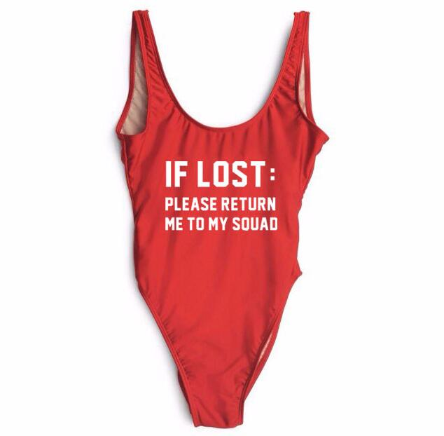 IF LOST:PLEASE RETURN ME TO MY SQUAD  Swimsuit