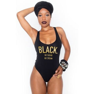 Black No Sugar No Cream Swimsuit