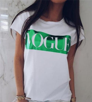 VOGUE Short Sleeve Women  Tshirt -  - KiKi Collection