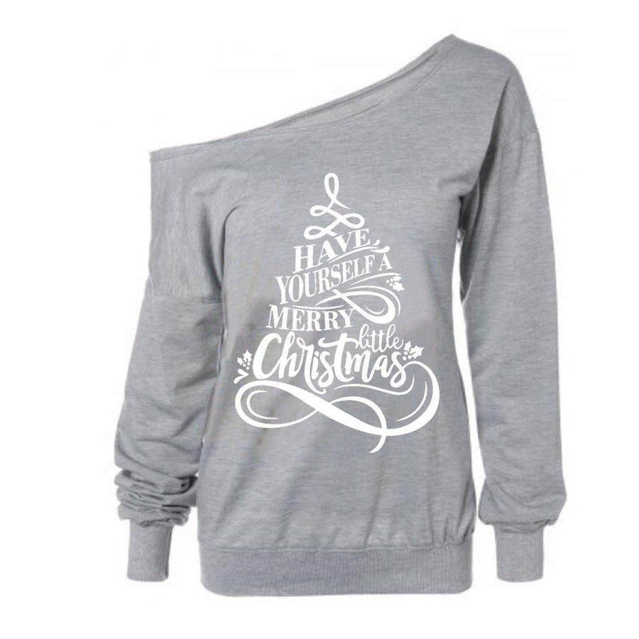 Merry Little Christmas Sleeve Sweatshirt -  - KiKi Collection