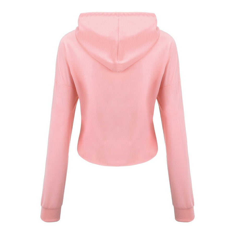 Babe crop top hoodie -  - KiKi Collection