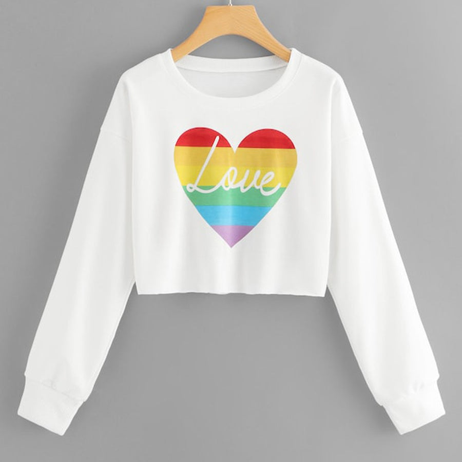 Pride Love Crop Top Sweatshirt -  - KiKi Collection