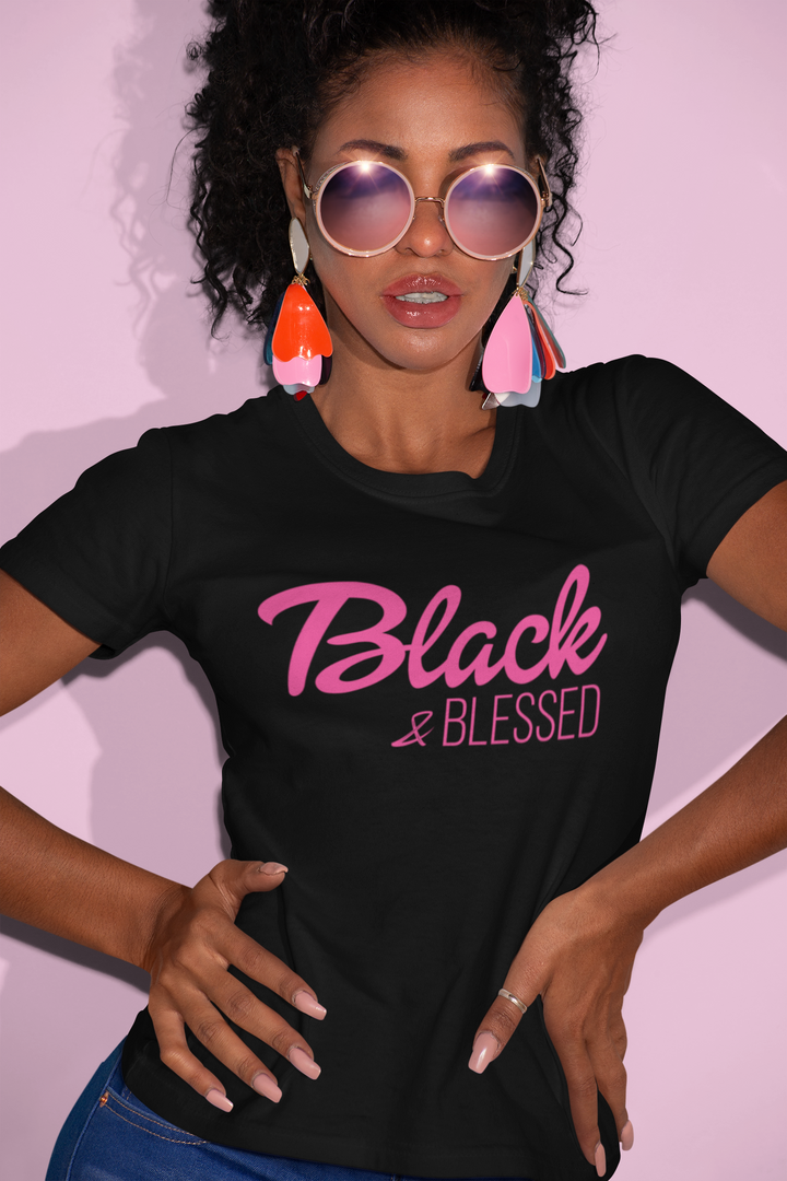 Black and Blessed - Unisex Short Sleeve Shirt