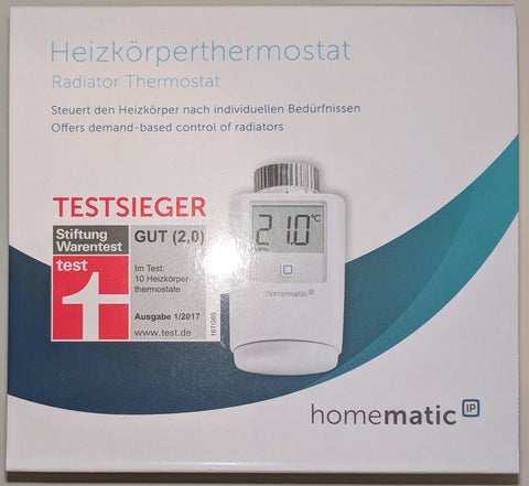 HomeMatic IP Heizkörperthermostat - vorne