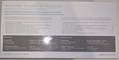 HomeMatic IP Starter Set Raumklima - Rückseite