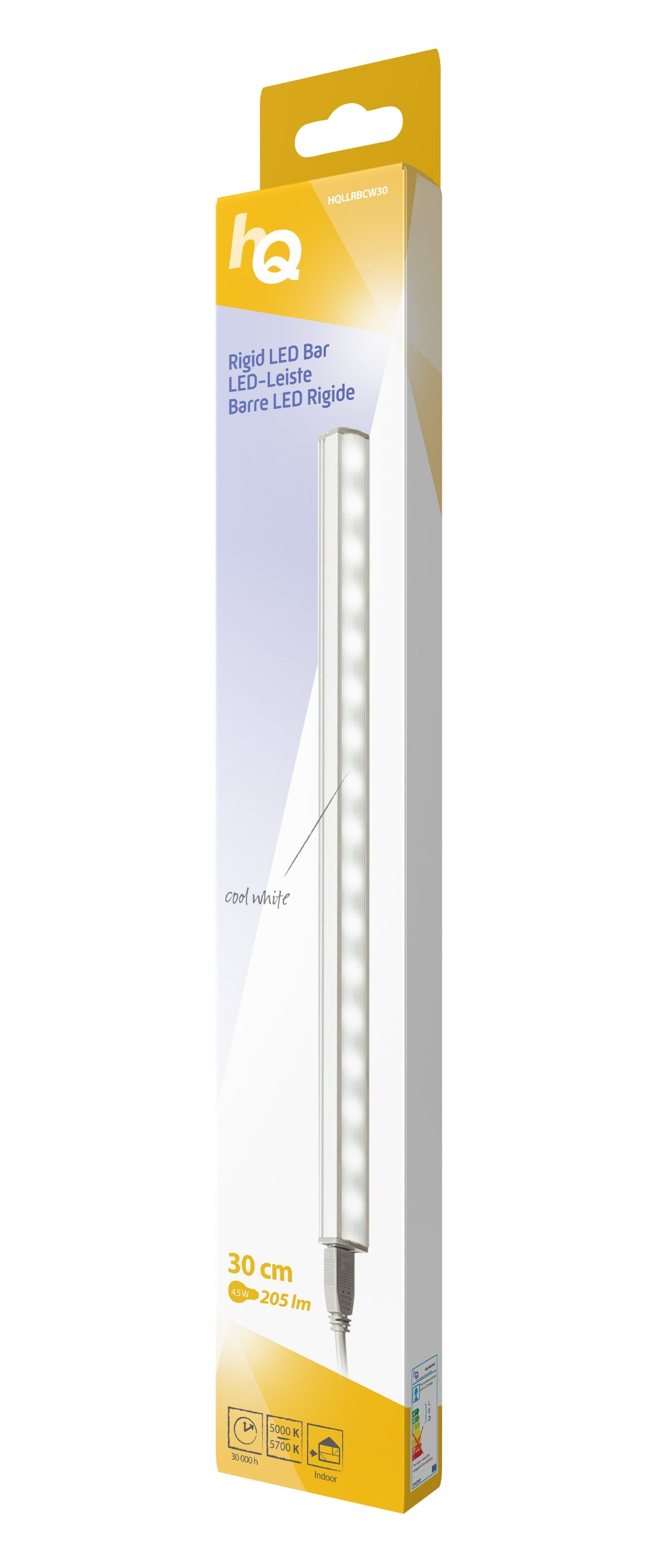 LED-Leiste starr 4.5 W 205 lm Kühles weiss - 30 cm
