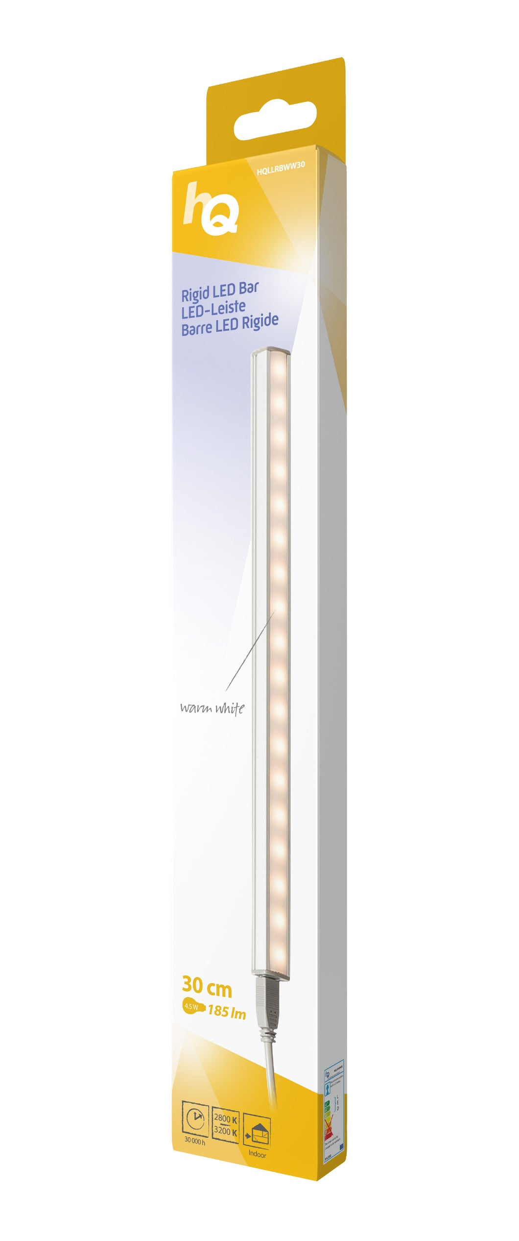 LED-Leiste starr 4.5 W 185 lm Warmweiss - 30 cm