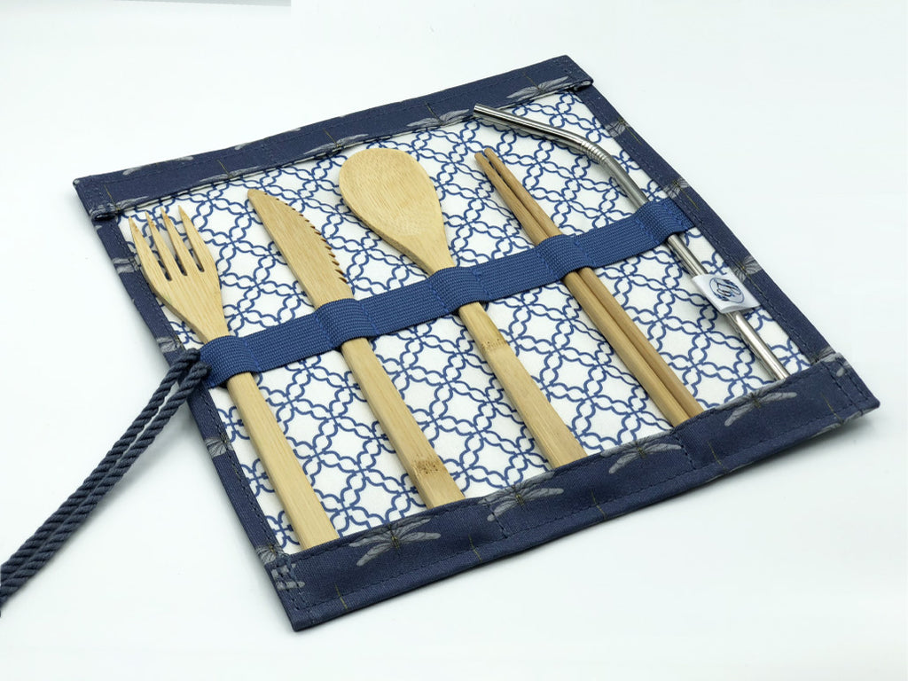 Cutlery Roll in 'Dragonfly'