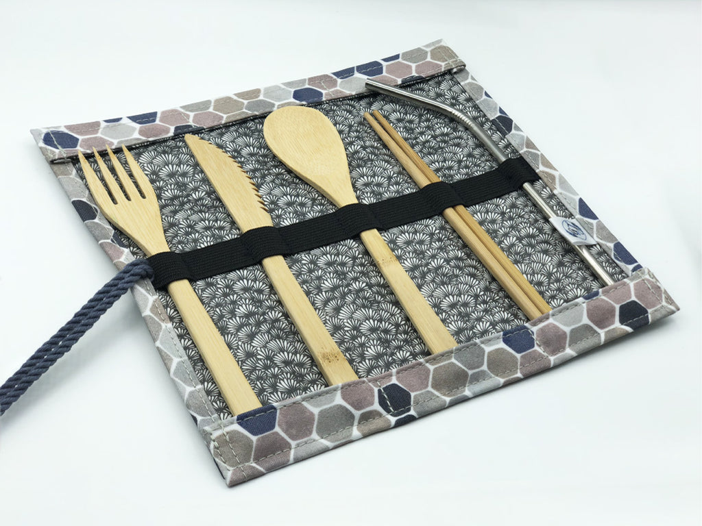 Cutlery Roll in 'Honeycomb'