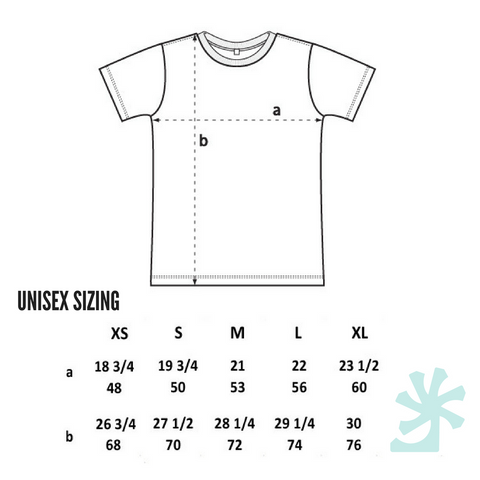 THERE IS NO PLANET B. TEE SIZE GUIDE