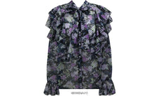 Load image into Gallery viewer, Floral Flounce Cuff Blouse (4 Colours)