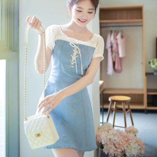 Feminine Denim Dress