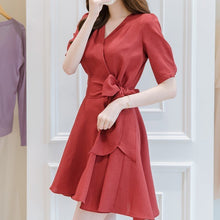 Load image into Gallery viewer, Romantic Flare Ribbon Dress