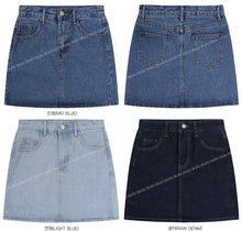 Load image into Gallery viewer, Mini A-line Denim Skirt