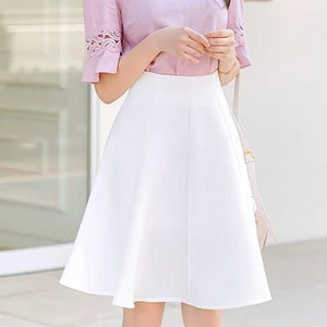 Romantic Petal Flare Midi Skirt