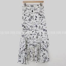 Load image into Gallery viewer, Assymmetric Floral Print Skirt