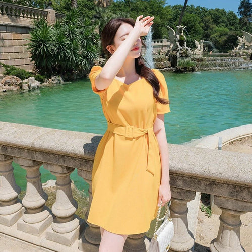 Sunny Puff Shoulder Dress