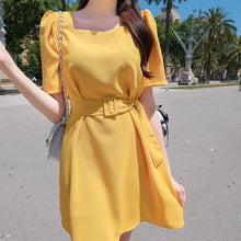 Load image into Gallery viewer, Sunny Puff Shoulder Dress